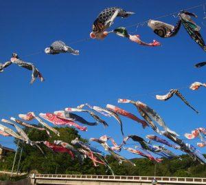 秩父の横瀬川・鯉のぼりまつり