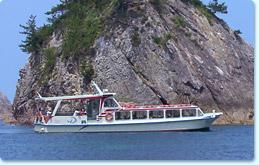 浦富海岸島めぐり遊覧船1