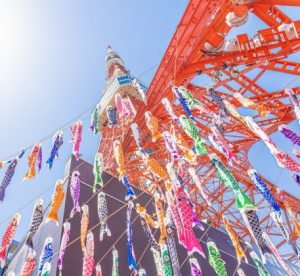 東京タワー こいのぼり